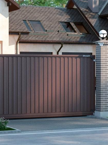 Откатные уличные ворота - фото 5998
