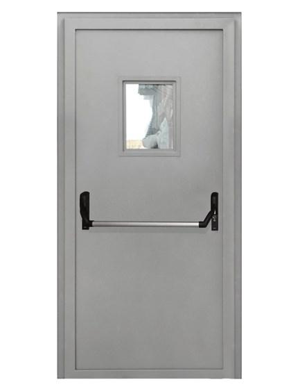 Дверь противопожарная однопольная EIS 60 с остеклением и антипаникой - фото 6203