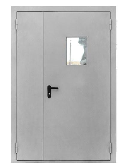 Дверь противопожарная двупольная EIS 60 с остеклением - фото 6212