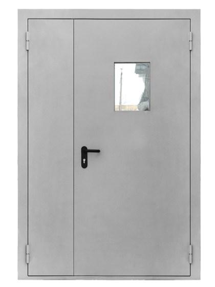 Дверь противопожарная двупольная EIS 60 с остеклением и антипаникой - фото 6216
