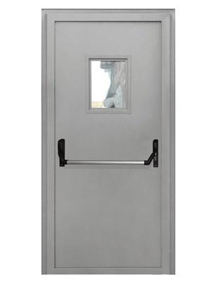 Дверь противопожарная однопольная EIS 60 с остеклением и антипаникой